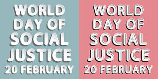 World Day of Social Justice Stock Photography