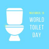 World day of the toilet bowl. Isolated on blue background. modern vector illustration Stock Photo