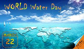 World Day for Water celebrated every 22 March Stock Photos