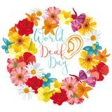 World Deaf Day. A floral illustration to observe World Deaf Day Royalty Free Stock Image