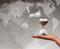 World debt deadline concept Royalty Free Stock Images