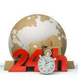 World delivery in 24 Hrs Royalty Free Stock Photo