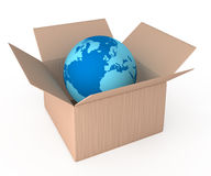 World delivery container Royalty Free Stock Photos