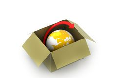 World delivery container Royalty Free Stock Photography