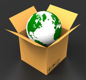 World Delivery Indicates Sending Delivering And Postage Royalty Free Stock Photo