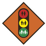 World demography. Traffic light Stock Image