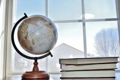 World desk globe. Globe is scale model of earth Stock Image