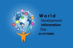World Development Information Day background royalty free illustration