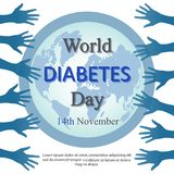 World diabetes day background with open arms Stock Photography