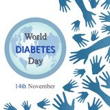 World diabetes day background with open arms Royalty Free Stock Image