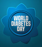 World Diabetes Day Blue Flower Card. Royalty Free Stock Photo