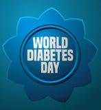 World Diabetes Day Blue Flower Card. royalty free stock photo