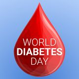 World diabetes day concept background, cartoon style royalty free illustration