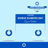 World diabetes day 2016 design illustration prevention for future. Remember and celebrate the day of world diabetes day Royalty Free Stock Photos