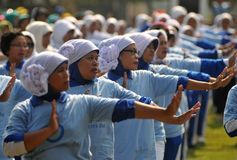 World Diabetes Day in Indonesia Stock Photo