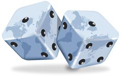World Dices Stock Photo
