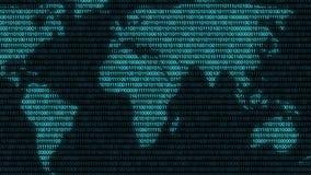 World digital binary computer data code cyberspace graphic animation. Digital world binary computer code Internet cyberspace graphic animation that can be used stock illustration