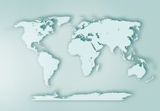 World digital outlined map background royalty free stock photography