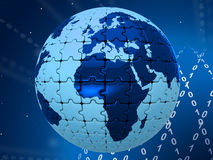 World Digital Represents High Tec And Globalise. World Digital Meaning High Tec And Globalisation Royalty Free Stock Images