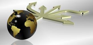 World direction stock illustration