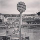 The World. World directions and destinies, Salzburg stock photos