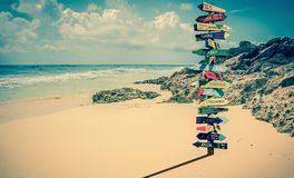 World directions signpost Stock Images