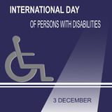 World Disabilities day. International Day of Persons with Disabilities. December 3 Stock Photo