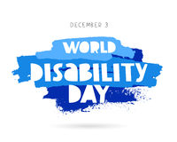 World Disability Day. Concept cards Royalty Free Stock Images
