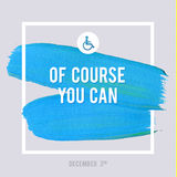 World Disability Day Typography Watercolor Brush Stroke Design , vector illustration. Grunge Effect Important Poster. Royalty Free Stock Photo