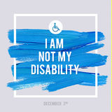 World Disability Day Typography Watercolor Brush Stroke Design , vector illustration. Grunge Effect Important Poster. Royalty Free Stock Photography