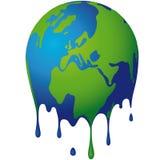 The world dissolves stock illustration