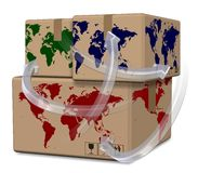 World distribution Stock Photo