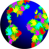 World of Diversity. Illustration symbolizing the diversity of people on earth Royalty Free Stock Images