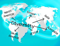 World Diversity Indicates Mixed Bag And Earth Royalty Free Stock Photos