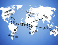 World Diversity Shows Mixed Bag And Range Stock Image