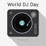 World DJ day Royalty Free Stock Photography