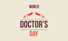 World doctor day greeting card Stock Photo