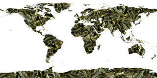 World of dollar bills stock photography
