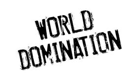 World Domination rubber stamp Royalty Free Stock Image