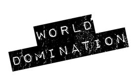 World Domination rubber stamp Stock Photos