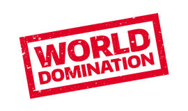 World Domination rubber stamp Royalty Free Stock Photography