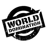 World Domination rubber stamp Stock Photo