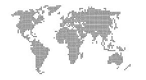 World dot in black and white Royalty Free Stock Image