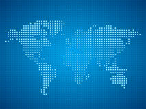 World dot map illustration. Stock Image