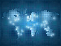 World dot map illustration. Stock Photography