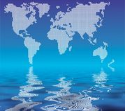 World in dots Stock Photo