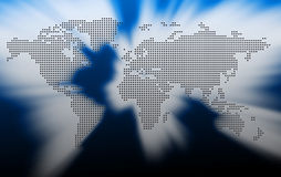 World dotted map. Royalty Free Stock Photos