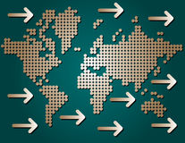 World dotted map Stock Photos