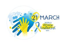 World down syndrome day design on white background. For design work Stock Photo