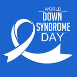 World Down Syndrome Day. Illustration of World Down Syndrome Day Royalty Free Stock Image